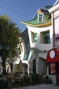 Sopot, Poland. ....this looks like a house Tim Burton & Dr Seuss built together