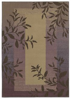 """Area Rug in the HGTV Home Collection """"Charlotte"""" color Purple - Flooring by Shaw"""