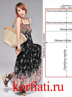 Потрясающее платье в пол! Создано из летнего тонкого шифона и, самое главное, вы сможете это платье пошить буквально за один час! Выкройка платья в пол
