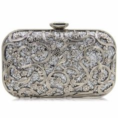 9b3b9ee299d8 US $52.92  Natassie New Design Women Clutches Metal Gold Flower Pattern  Hard Case Evening Bags Diamond Clutch Purses on Aliexpress.com   Alibaba  Group