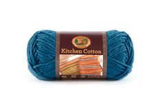 KITCHEN COTTON- BLUEBERRY - Made in the USA, this classic worsted-weight cotton is perfect for kitchen items and bath accessories. Its bright, retro-inspired palette is ideal for stripes, ripples, and colorwork projects. The smaller size of the skeins means that you can mix and match your own color palette affordably.