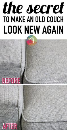 WHOA! I never dreamed it could be so easy to make a new couch look new again…
