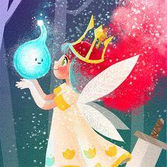 Princess Aurora  Child of Light por LadyAlouette en Etsy