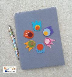a journal / diary with a felt cover
