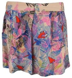 Myne Myne-womens-palm-springs-pink-multi-tegen-print-8 Shorts $40