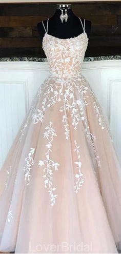 Lovely Lace Tulle Long Prom Dresses, Newest Prom Dresses, Popular Long Prom Dresses - Abschlussball Kleider Pretty Prom Dresses, Cute Wedding Dress, Hoco Dresses, Cheap Prom Dresses, Prom Party Dresses, Quinceanera Dresses, Ball Dresses, Homecoming Dresses, Cute Dresses