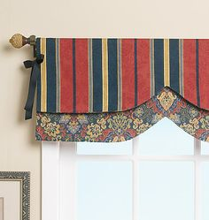 Waverly reversible window valance. I like the reversible option.  Seems easy enough to make.