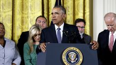 """""""The gun lobby may be holding Congress hostage right now. But they cannot hold America hostage,"""" President Obama says."""