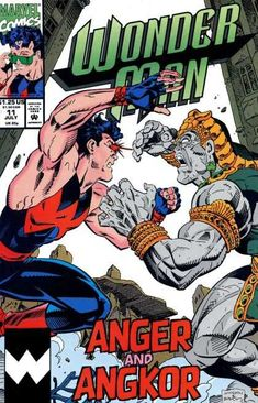 Wonder Man Vol. 2 # 11 by Jeff Johnson & Terry Austin Marvel Comic Books, Marvel Comics, Wonder Man, Human Torch, Marvel Wallpaper, Comic Book Covers, Angkor, Thor, Comic Art