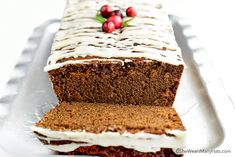 The spicy homemade Gingerbread Loaf made with ginger, cinnamon, allspice, cloves and molasses is such a lovely treat to enjoy with coffee or tea.