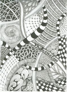 A Zentangle doodle, from TheRaggedEdge's Squidoo Lens.