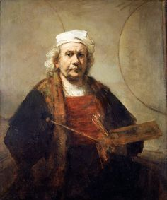 Rembrandt Self Portrait with Two Circles, about 1665-9 | © English Heritage