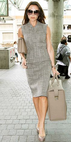 tweed sheath - everything classic chic about this outfit including bags