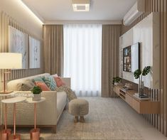 Sala A small room needs to be well thought out so that it is not cluttered. Living Room Tv, Interior Design Living Room, Home And Living, Living Room Designs, Small Living Room Design, Appartement Design, Small Room Bedroom, Decoration, Home Decor