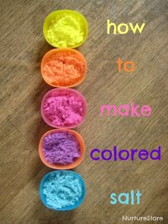 How to make colored salt - so easy! Great for sensory play and learning. - pinned via Meagan Brammer ≈≈