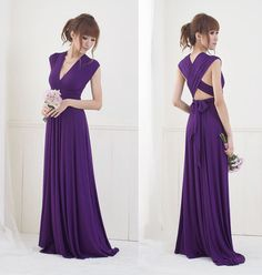 Convertible/Infinity Dress  Floor Length by christintina on Etsy, $130.00