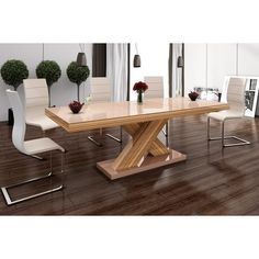 Xenon Dining Table with Extension - Cappuccino/Sevilla, Black Stainless Steel Dining Table, Counter Height Dining Table, Glass Dining Table, Solid Wood Dining Table, Modern Dining Table, Dining Table In Kitchen, A Table, Expandable Dining Table, Elegant Dining