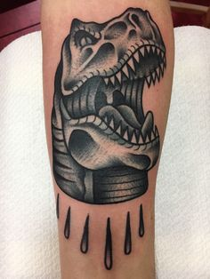 Trex Tattoo created  by Salon Serpent in Amsterdam