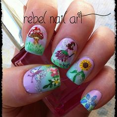 Garden fairy by  rebelnailart Exquisite!