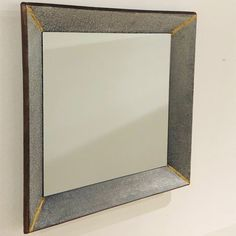 Square Mirror with Metallic Corner Accents Romantic Bathrooms, Apartment Entryway, Antique Farmhouse, Oversized Mirror, Metallic, Corner, Glass, Wall, Furniture