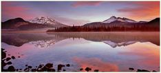 South Sister and Broken Top Mountains reflected in Sparks Lake, near Bend, Oregon.  One of the best sunrises I've ever experienced!
