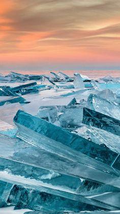 Glacier, broken small icebergs, nature, 2160x3840 wallpaper