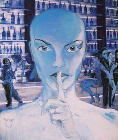 "Yury Ermolenko (Юрий Ермоленко), ""Bald Alice"" (""ALICE NEW!"" project), 2005, acrylic on canvas, 180x153 cm. #YuryErmolenko #юрийермоленко #ЮрийЕрмоленко #живопись #yuryermolenko #acrylic #picture #painting #art #fineart #contemporaryart #modernart #inspiration #amazing #impressive #sexy #wonderland #hot #colorful #texture #RapanStudio #exhibition #psychedelic #metaphysics #cовременноеискусство #mystery #картина #artwork #выставка #alice #fairytale #dream #sensual #fantasy #AliceInWonderland…"