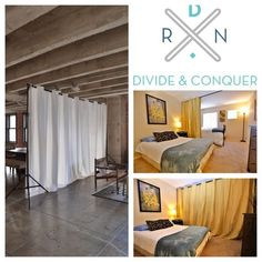 Divide and conquer your space in minutes with Room Divider Kits from RoomDividersNow. Why build an expensive wall when you can create the perfect amount of privacy with a cost effective room divider kit? Works great for shared bedrooms, dorms, studios, lofts, and work space: http://www.roomdividersnow.com/