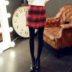 Buy 'YOZI – Plaid Wrap Pencil Skirt' with Free International Shipping at YesStyle.com. Browse and shop for thousands of Asian fashion items from China and more!
