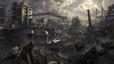 destroyed city evangelion