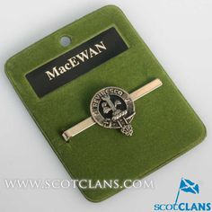 MacEwen Clan Crest Tie Slide