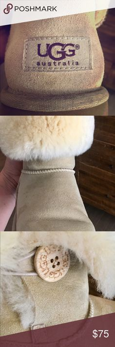 Authentic UGG boots size 8/9 US EU 39 Super clean! Super clean just slight darkness on toe see pic. Only worn for a week. Fur like new. No original box but will pack with tissue in a nice box. UGG run large I am a 9.5 and they fit me. UGG Shoes Winter & Rain Boots