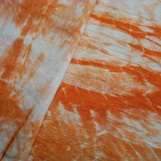 Silk Hemp Fabric Hand Dyed Bundle Shibori Terracotta Orange 20% OFF SALE on Etsy, $10.00