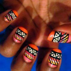 intense nail art...