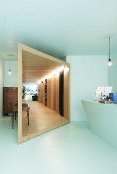 aloe green walls, office paris, aloe