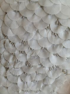 Fabric Manipulation - layered applique circles with beaded embroidery for texture; sewing; textiles; embellishment