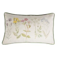 Cream Wildflower Cushion with Green Piping x by Sass & Belle in Home, Furniture & DIY, Home Decor, Cushions Cute Cushions, Scatter Cushions, Contemporary Cushions, Sass & Belle, Butterfly Gifts, Christmas Gift Guide, Soft Furnishings, Olive Green, Wild Flowers
