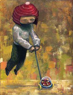 Ideological Distance by Aaron Jasinski - Original for sale at Eyes On Walls