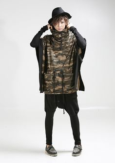 K-POP Men's Fashion Style Store [TOMSYTLE]  Camouflage Poncho Zoo / Size : FREE / Price : 163.06 USD → FOR SALE 77.18 USD  #tops #poncho #cotton #camo #mensfashion #Kpop #boy #fashion #unique #TOMSTYLE #OOTD