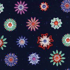 Melody Miller - Picnic - Enamel Flowers in Navy