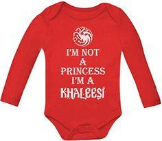 I'm Not A princess I'm A KHALEESI Baby Long Sleeve Onesie 12 - 18 months Red TeeStars http://www.amazon.com/dp/B00NTWQ910/ref=cm_sw_r_pi_dp_9EVKub1B4V4AX