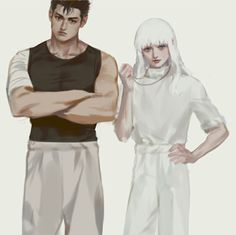 Griffith and Guts from Berserk