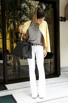 Great style... Love the yellow jacket