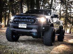 Lowered Trucks, Jacked Up Trucks, Custom Trucks, Ford Trucks, Pickup Trucks, Ford Ranger Modified, Ranger Truck, Ford Ranger Raptor, Black Ford Raptor