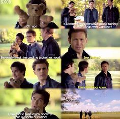 Hahaha Damon Salvatore Stefan Salvatore and Alaric Saltzman season 6