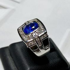 beautiful on line but in person it is a knock out! It is gorgeous, I love it! Thank you for you prompt response to all my. Men's Jewelry Rings, Jewellery, Bling Jewelry, Diamond Jewelry, Ceylon Sapphire Ring, Vintage Gold Engagement Rings, Tiffany Jewelry, Quality Diamonds, White Gold Rings