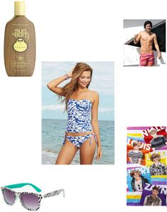 """""""Harry at the beach"""" by huddleston-emily ❤ liked on Polyvore"""