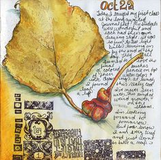 I LOVE TO FIND LOVELY LEAVES AND OTHER FINDS AND PASTE AND TAPE FOR MY DAILY JOURNAL, ADDS COLOR TO MY LIFE, AND MY DAYS AS THEY GO BY