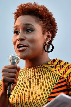 """LOS ANGELES, CA - JUNE Issa Rae speaks onstage at the """"Love and Basketball"""" screening during the 2015 Los Angeles Film Festival at Regal Cinemas L. Live on June 2015 in Los Angeles, California. (Photo by Alberto E. Natural Hair Short Cuts, Tapered Natural Hair, Dyed Natural Hair, Short Hair Cuts, Dyed Hair, Natural Hair Styles, Tapered Twa, Twa Styles, Twa Hairstyles"""