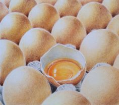 Original realistic colored pencil still life drawing eggs by SuayaArt, $85.00 #art #painting #drawing #realistic